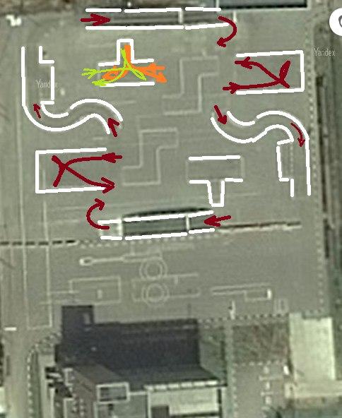 МРЭО ГИБДД Измайловского Зверинца схема упражнений площадке-автодроме