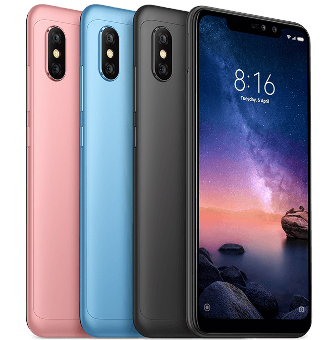 Xiaomi Note 6 Plus трех цветов