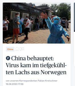 Коронавирус в Китае, Пекин - вторая серия эпидемии - июнь 2020 - виноваты естественно иностранцы - норвежцы