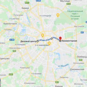 Размеры Москвы