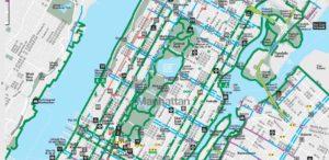 Велодорожки в Нью-Йорке