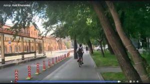 Велосипедист в Москве без мыслительного процесса