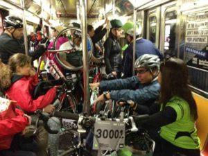 велосипед в метро - Нью-Йорк