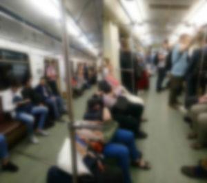 велосипед в метро Москва, время - 19.10