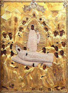 Икона Божией Матери «Успение» Псково-Печерская центральная часть