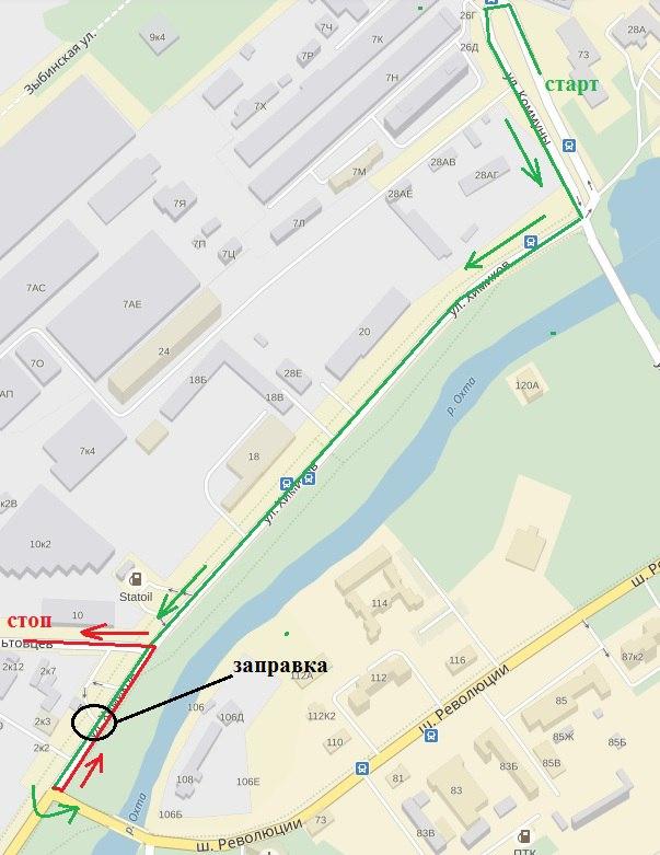 ГИБДД шоссе Революции экзаменационный маршрут