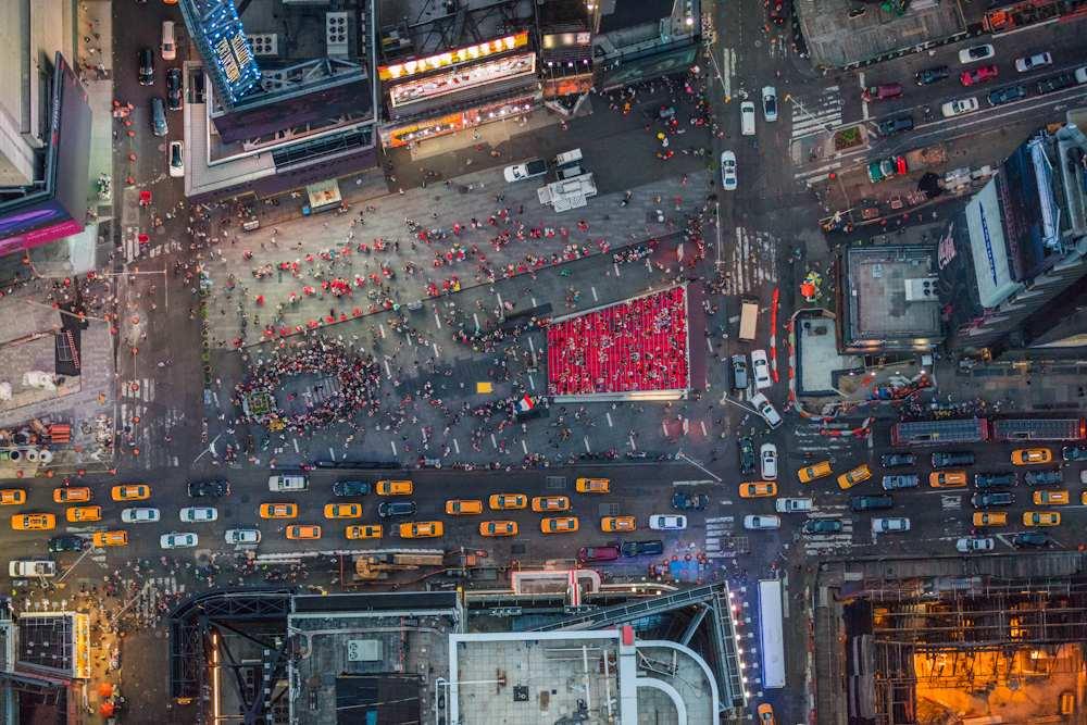 Автомобили Нью-Йорка с воздуха (Times Square)
